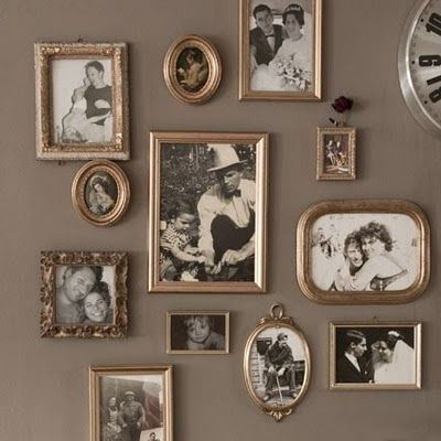 Really like assorted gold frames for black and white photos