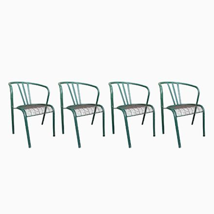 Stackable Tubular Metal Outdoor Chairs, 1950s, Set of 4 Jetzt ...