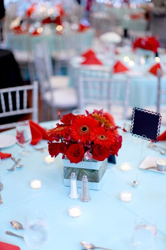 Modern Korean Red Aqua Wedding Washington Dc Reception