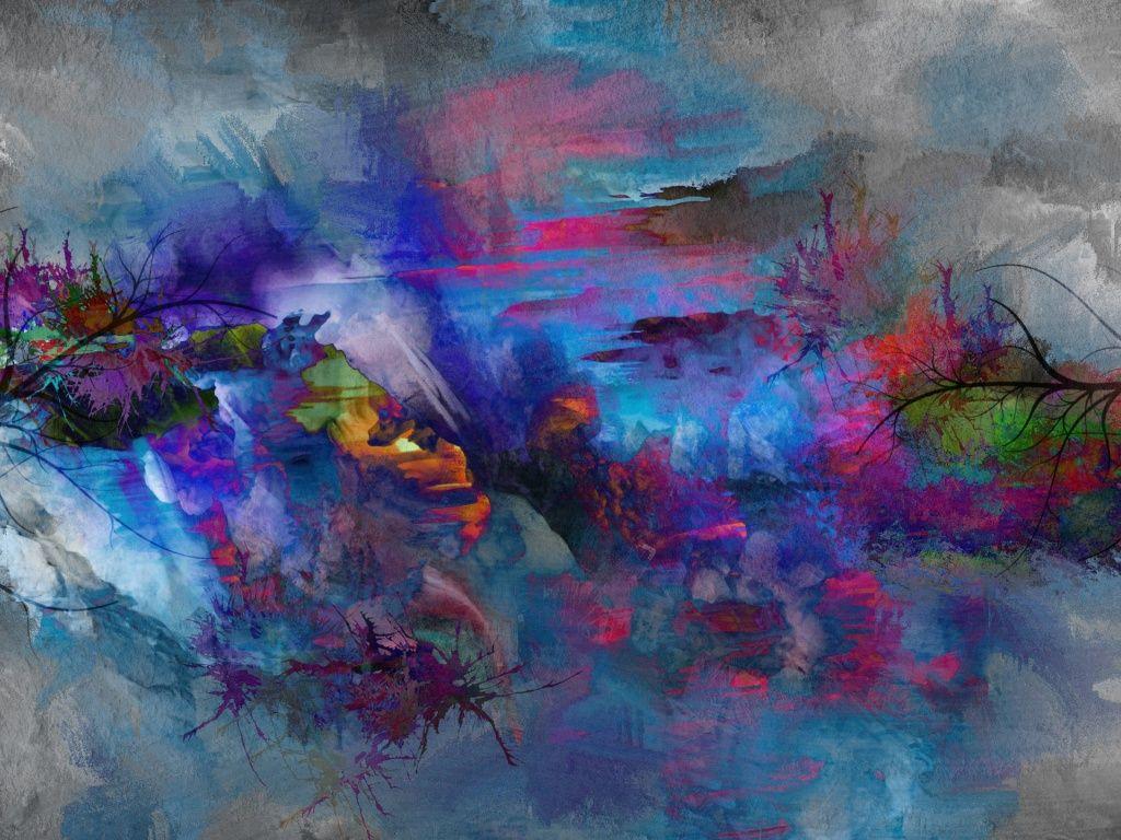 Abstract Nature Painting Hd Desktop Wallpaper Pictură