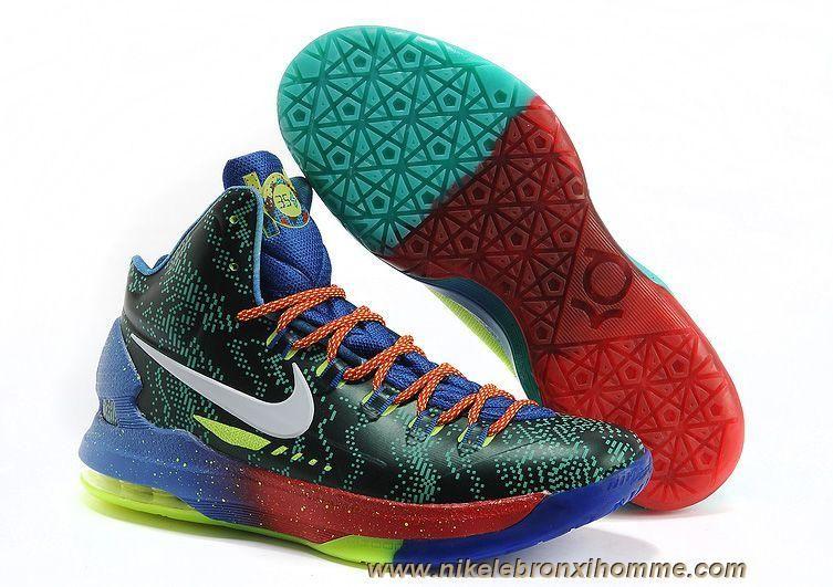 best service c0666 05e1e Nike KD V Elite What the KD Blue Neon Sortie