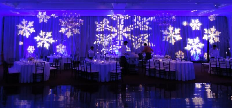 Winter Wedding Theme Featuring Pipe Amp Drape Blue
