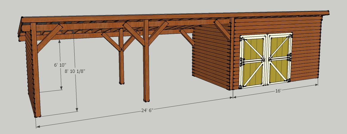 Storage shed with carport should be able to put about 5 for Wood storage building plans