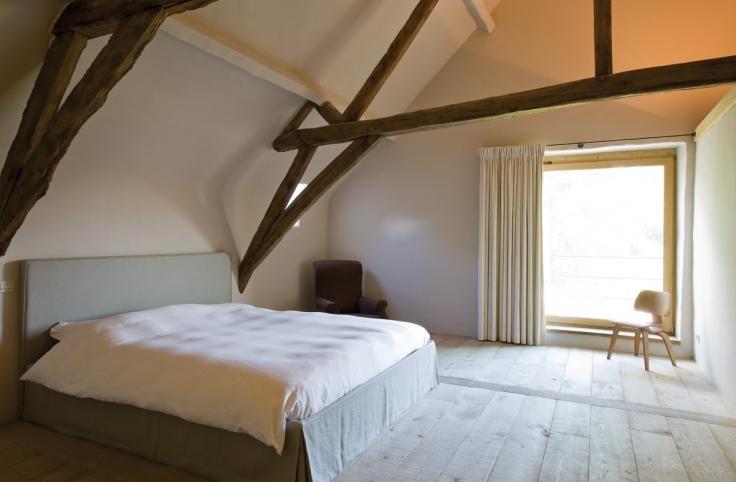 slaapkamer met open nok  Interieur  slaapkamer in 2018