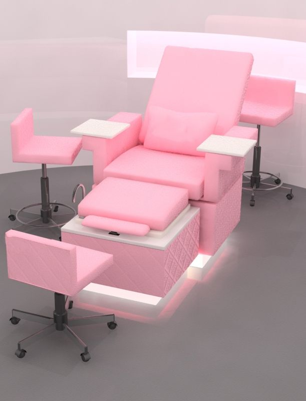Pamper me lounge pedicure chair bench station china for Salon furniture makeup station