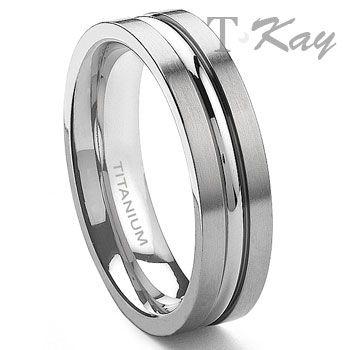 Titanium 6mm Ribbed Men S Ring Titanium Wedding Rings Mens Wedding Rings Wedding Ring Bands