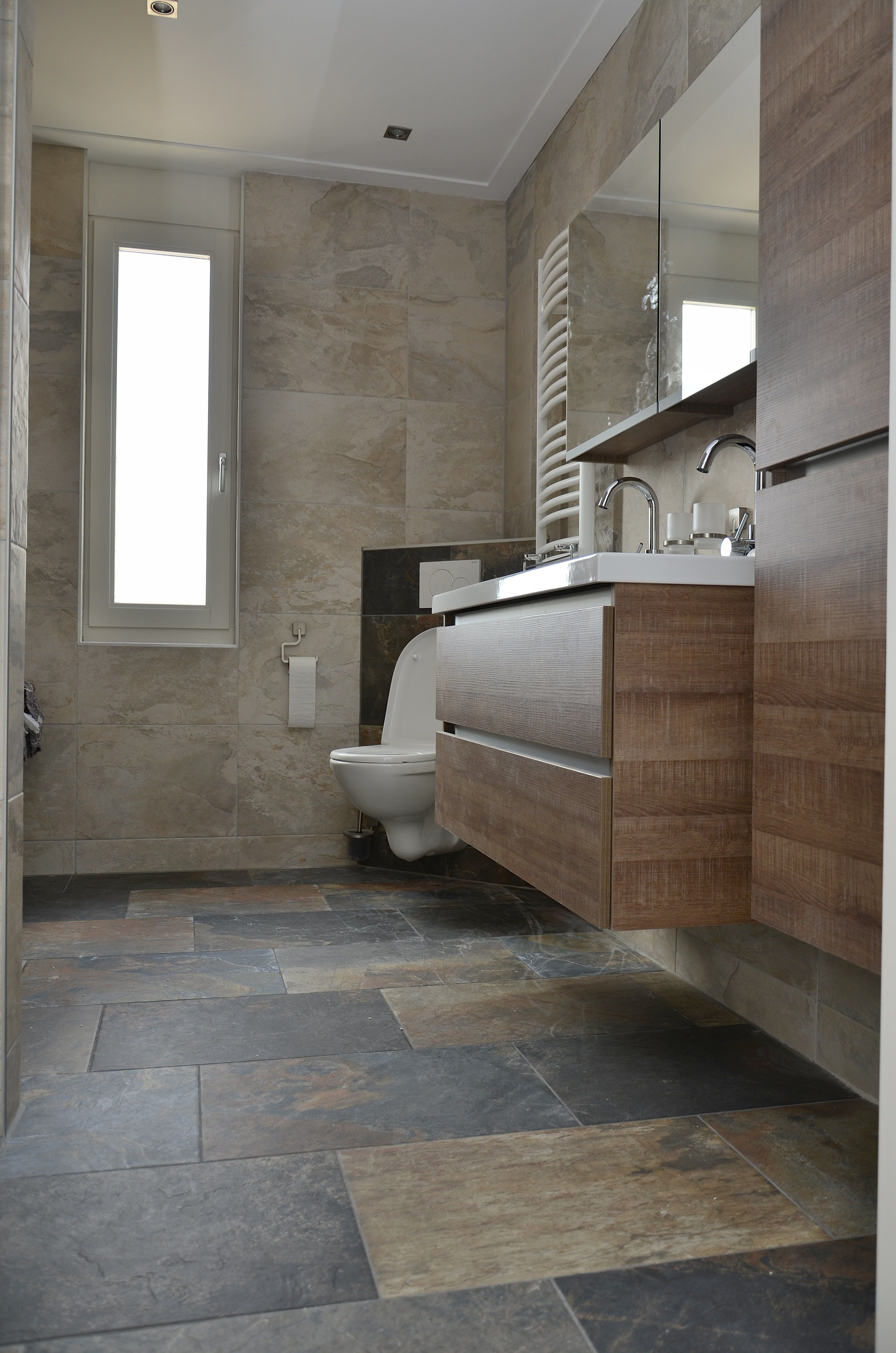 Elegantes badezimmerdesign unicom starker slate natuursteen look tegels  badideen  pinterest