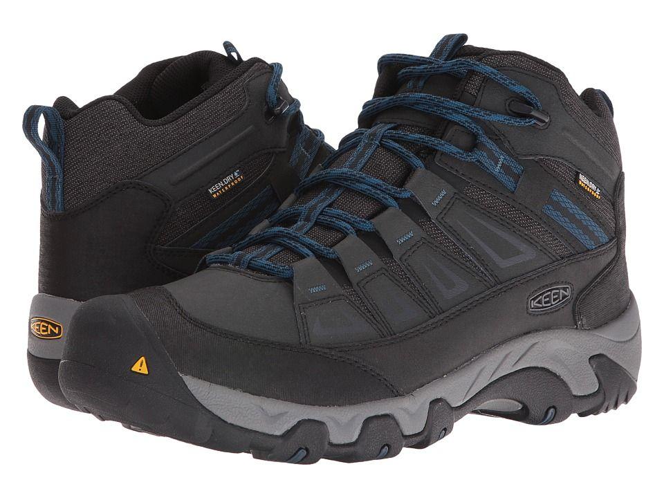 Keen Oakridge Mid Polar Waterproof Men's Waterproof Boots Black/Ink Blue