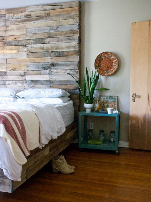imgfave Bed Bed Bedrooms Pinterest Wood headboard