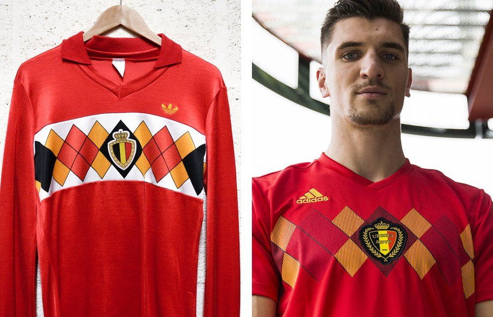 c764efeff Shirt news  The new Belgium World Cup shirt is inspired by the Euro 1984 kit  What do you think