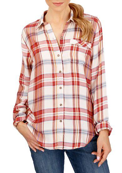 be0dd4e3c091a Lucky Brand Bungalow Plaid Shirt
