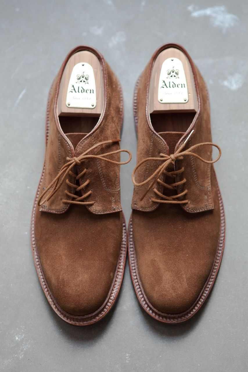 abd0120e74 Alden plain toe blucher in snuff suede