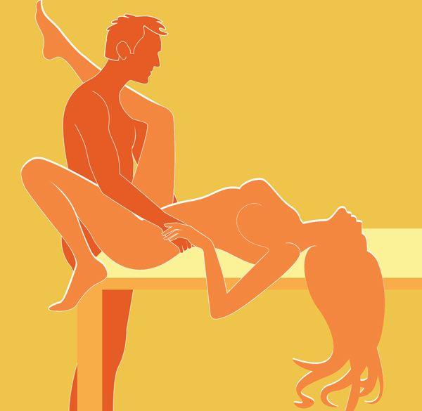 Секс yg столе позы