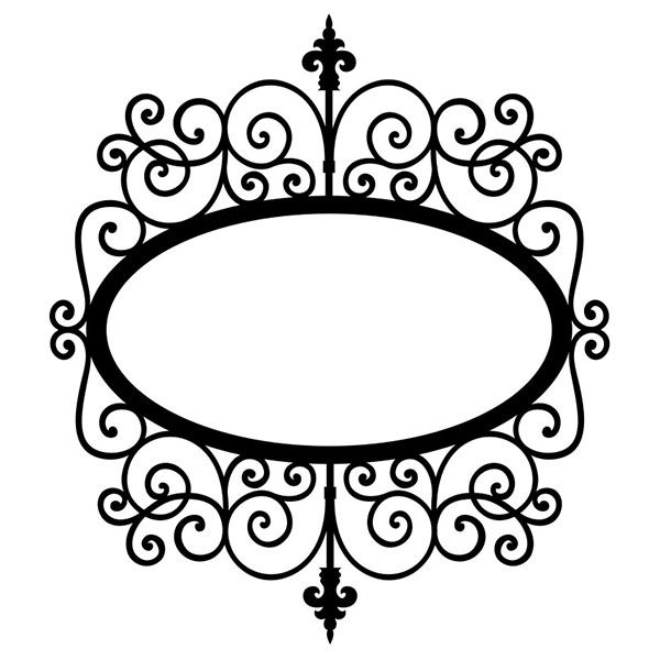 digiplayground wrought iron oval frame - Wrought Iron Picture Frames