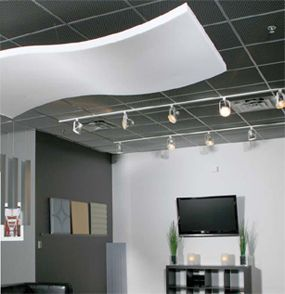 Whisperwave Acoustical Baffles Ceiling Clouds Foam