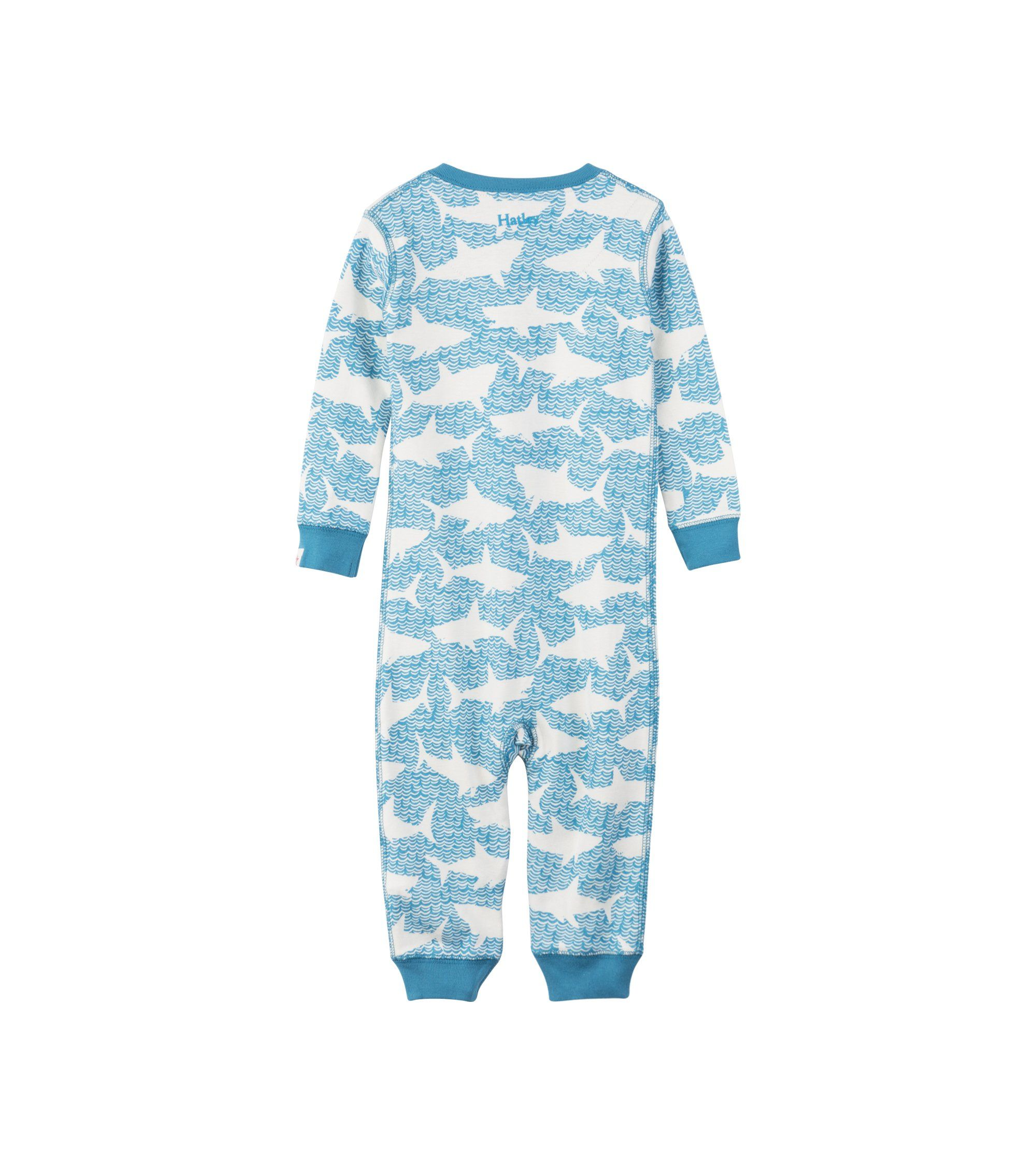 95b5df8a3296 Hatley Baby Boys Organic Cotton Sleeper Shark Alley 69 Months   To ...