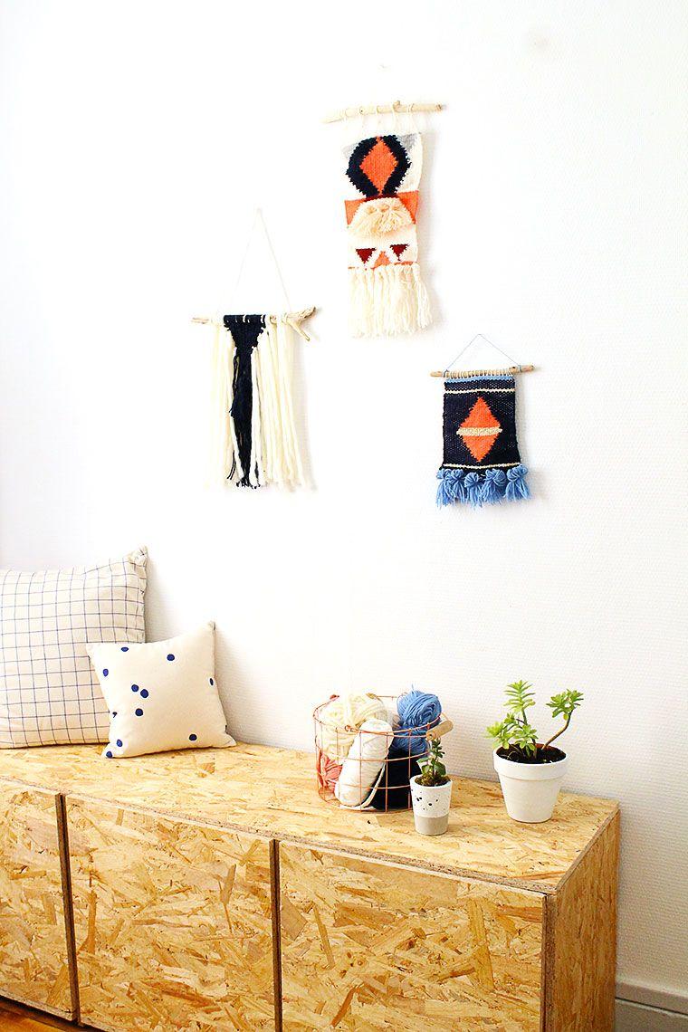 une d co boh me toute douce qui tranche avec le meuble en osb pour un salon plein de caract re. Black Bedroom Furniture Sets. Home Design Ideas