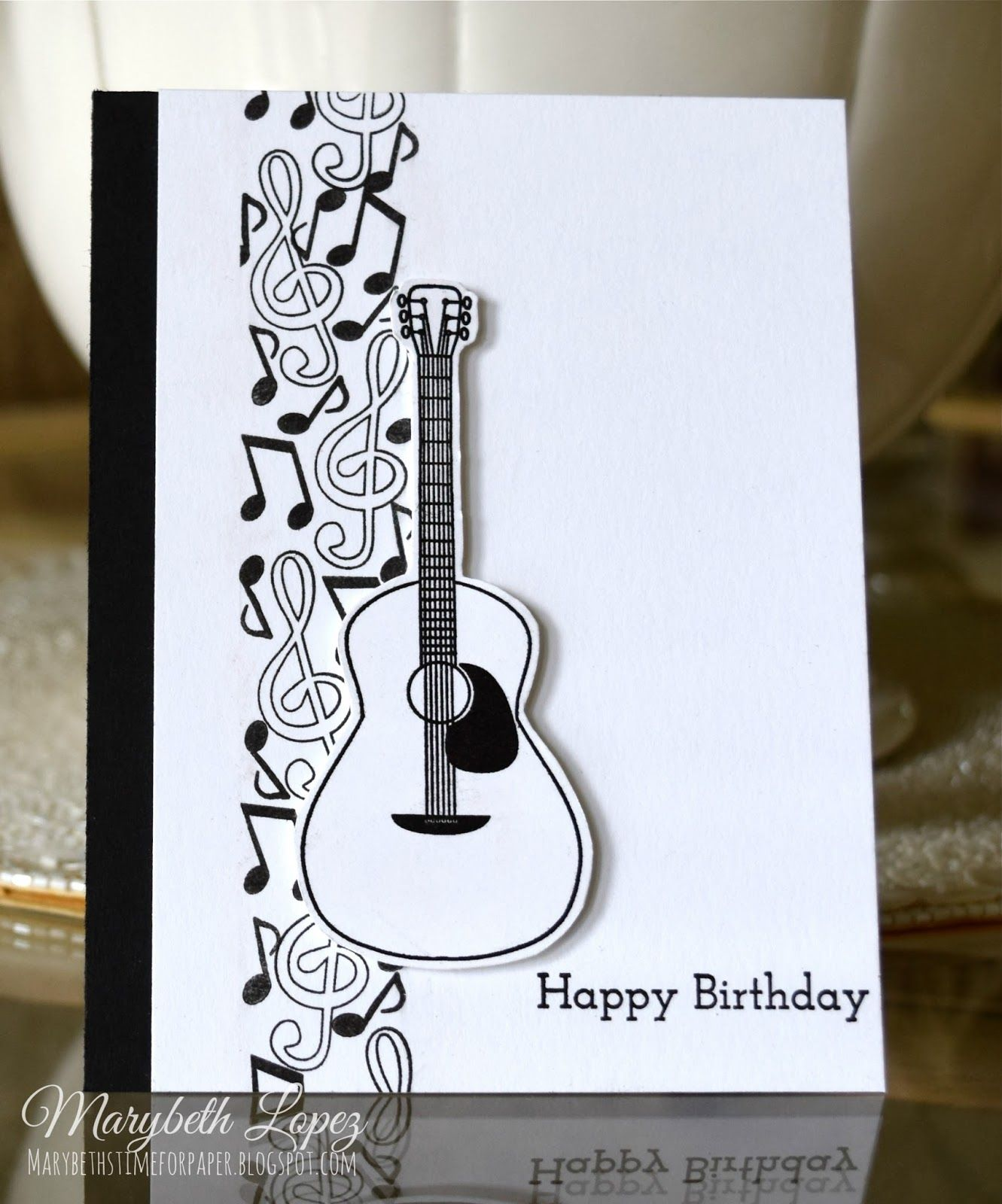 Music Notes Birthday Card Marybethstimeforpaperblogspot