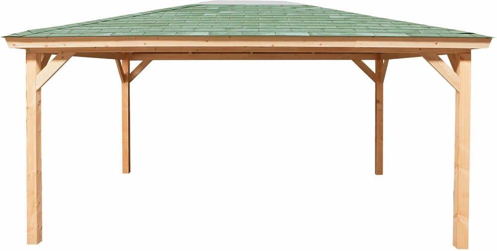Prieeltje / paviljoen model Steltloper afmetingen 500 x 400 cm (dakmaat) van Woodvision