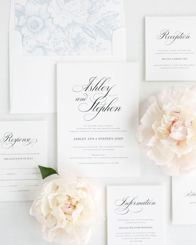 Timeless Calligraphy Wedding Invitations | Classic weddings ...