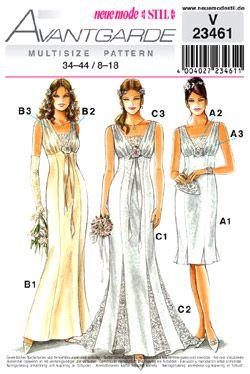 neue mode v 9  Bridal dress patterns, Flamenco dress pattern