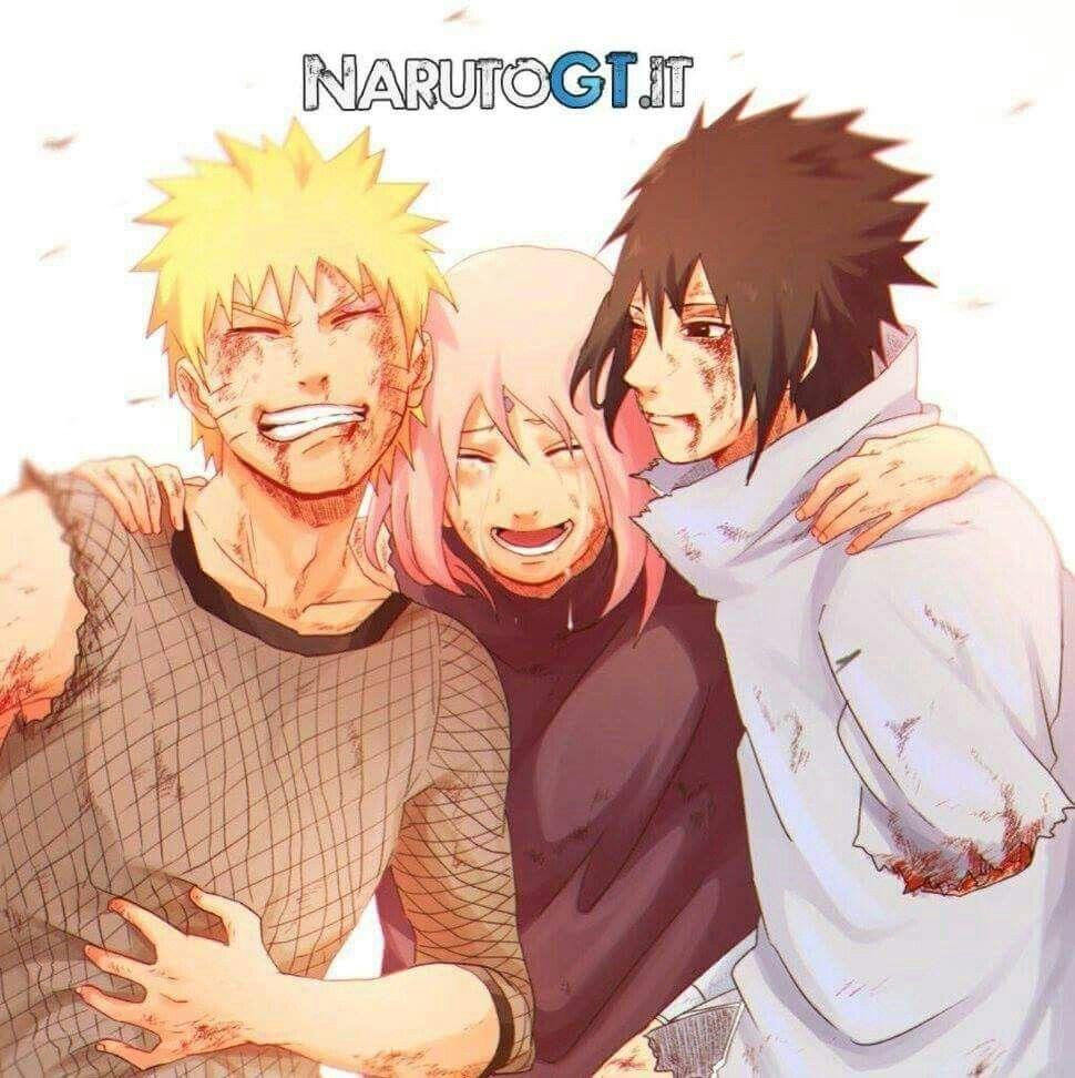 Naruto Sakura e Sasuke Arte de naruto