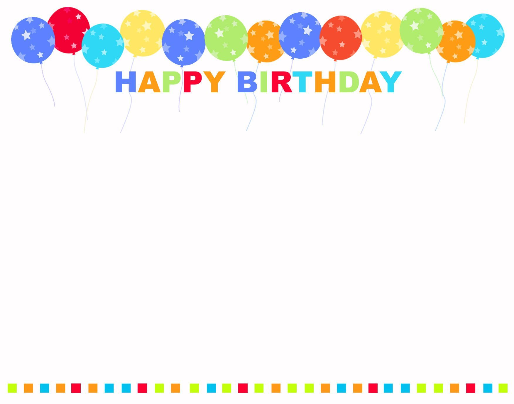 Happy Birthday Background Vector Template Freevectors 1600