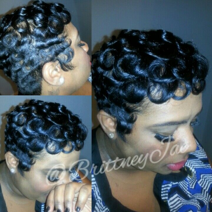 "Betty Boop Hairstyle Curls For The Girls""betty Boop Pin Curl Pixie Cut Styles"