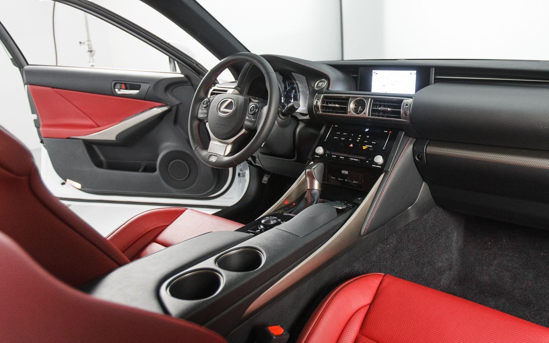 2014 Lexus IS350 F Sport interior in Rioja Red Lexus