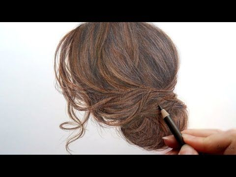 Amazing Drawing And Coloring Brown Hair With Colored Pencils Artist Emmy Kalia How To Draw Hair Realistic Hair Drawing Hyperrealism
