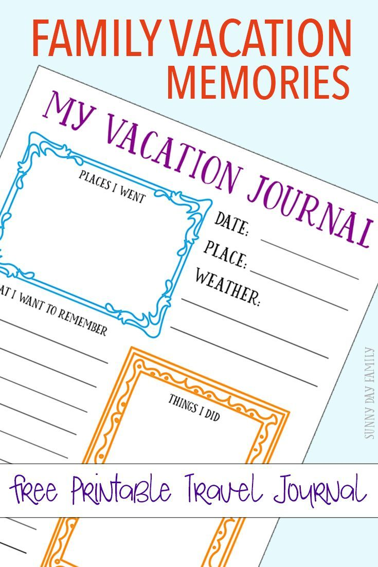 photograph about Travel Journal Printable referred to as No cost Printable Drive Magazine for Your Household Family vacation