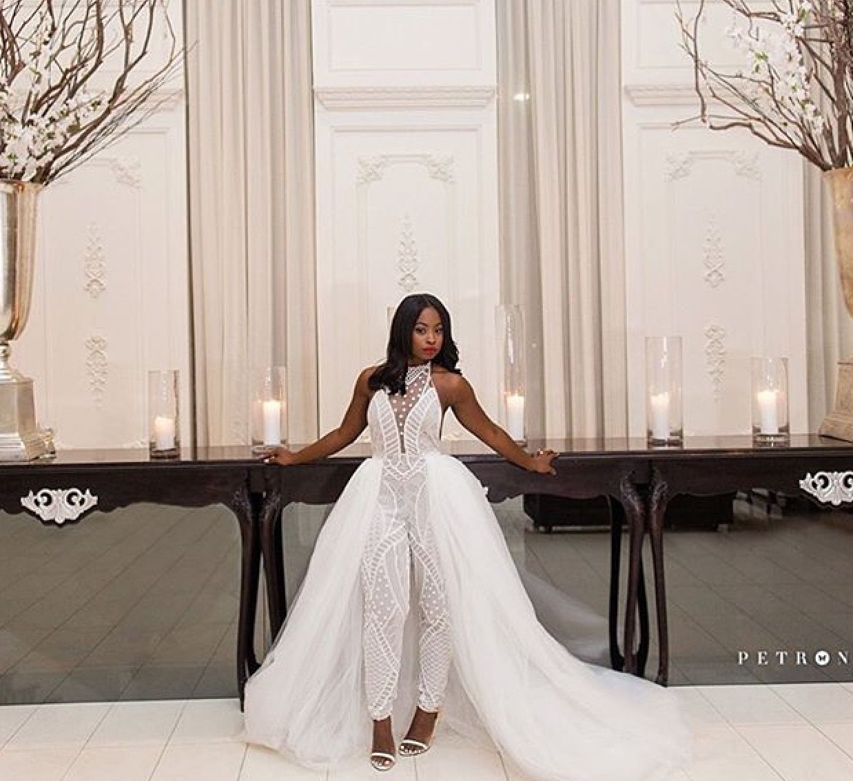 Follow Us Signature Bride On Instagram And Twitter And On Facebook Signature Bride Magazi Bride Reception Dresses Wedding Reception Outfit Wedding Jumpsuit