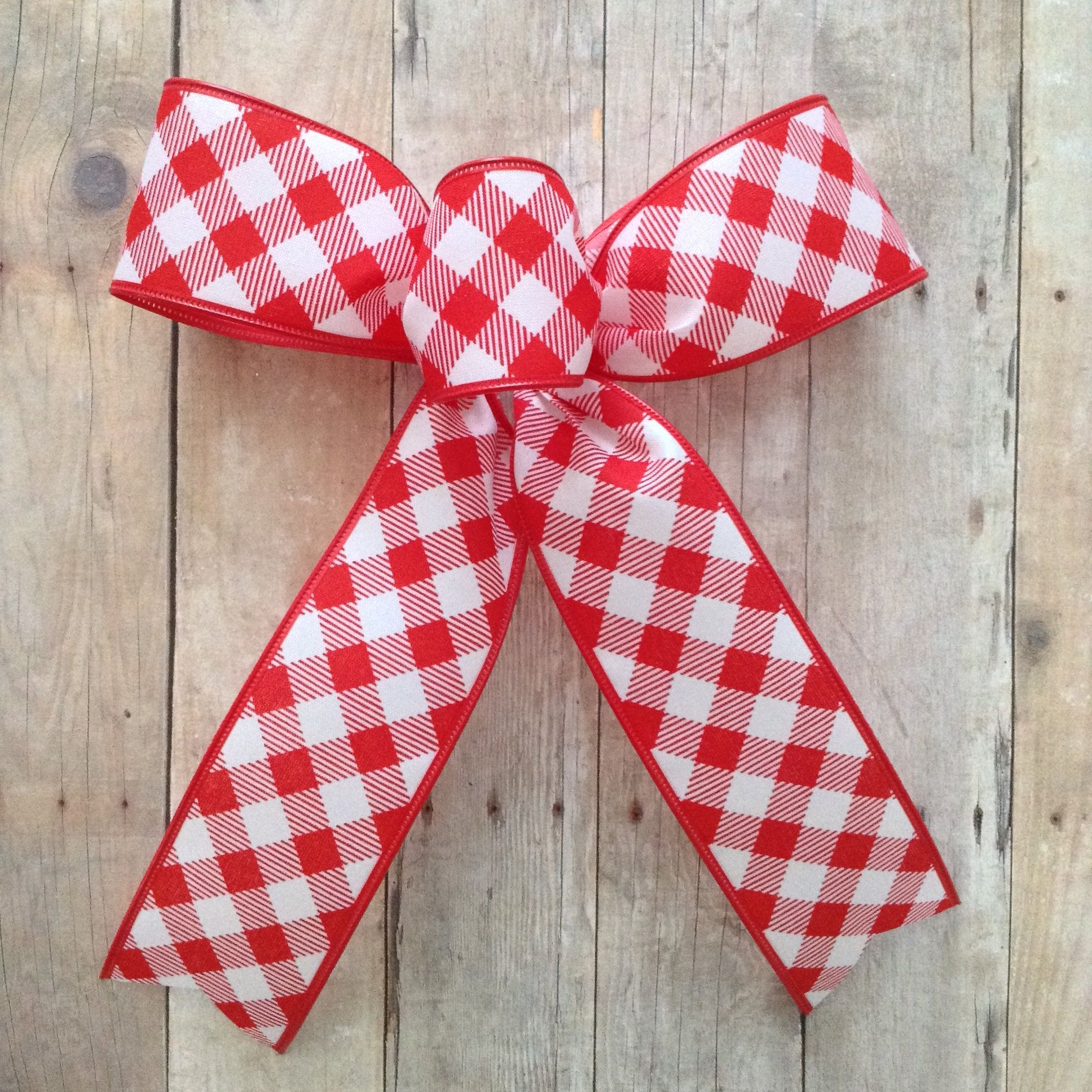 Christmas Tree Bows Xmas Red And White Bows Gingham Red And White Bows Gingham Check Basketweave Decorative Bows Set Of 12 Small Bows Christmas Tree Bows Decorative Bows Small Bows
