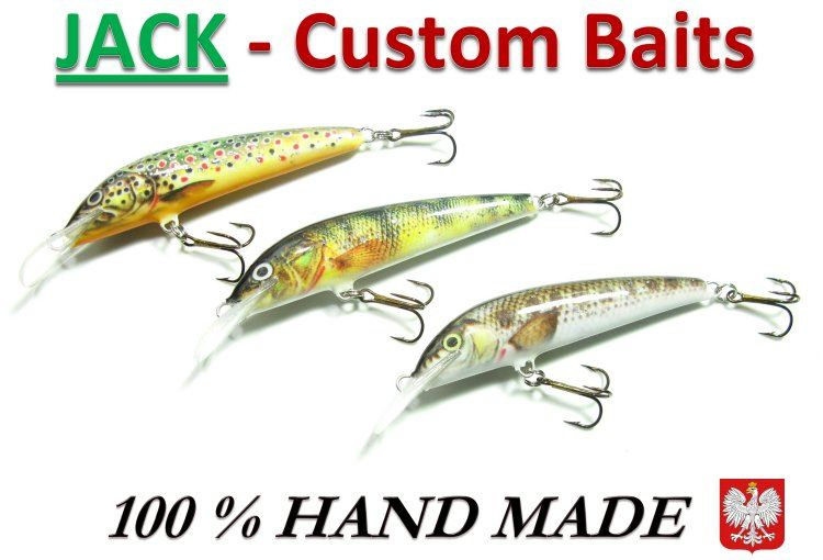 New hand crafted crankbaits - Jack custom baits by BFUSA.  Product of Poland