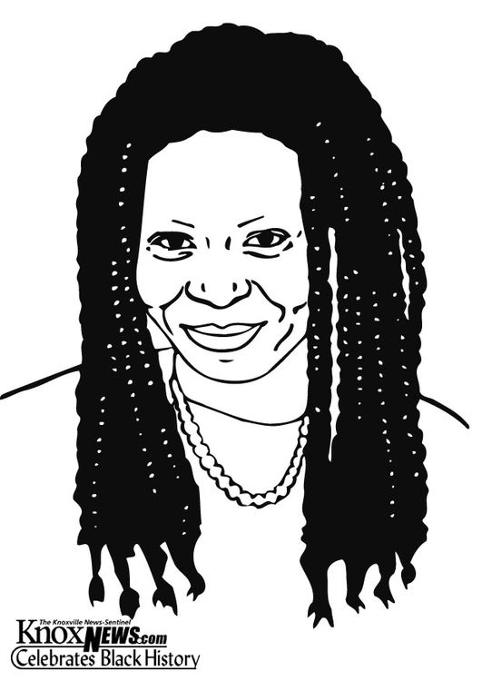 Coloring Page Whoopi Goldberg Coloring Pages Black History