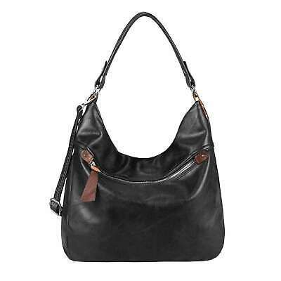 Photo of Details about DAMEN TASCHE SHOPPER Schultertasche Hobo-Bag Umhängetasche Leder Optik Crossbody
