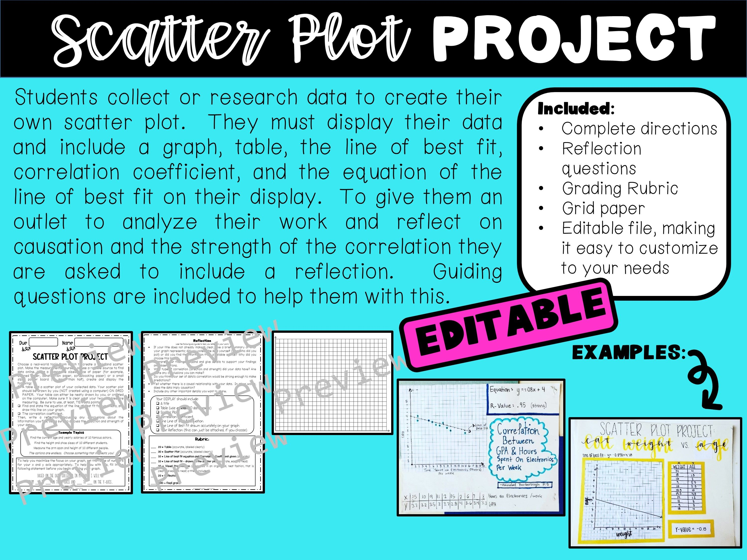 Scatter Plot Project Editable In