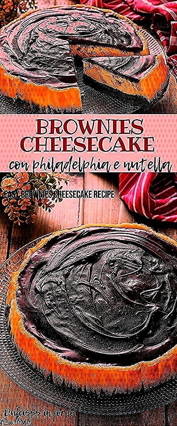 ricetta facile: l'unione della base di brownie con la cheesecake classica cotta al fornocheesecake