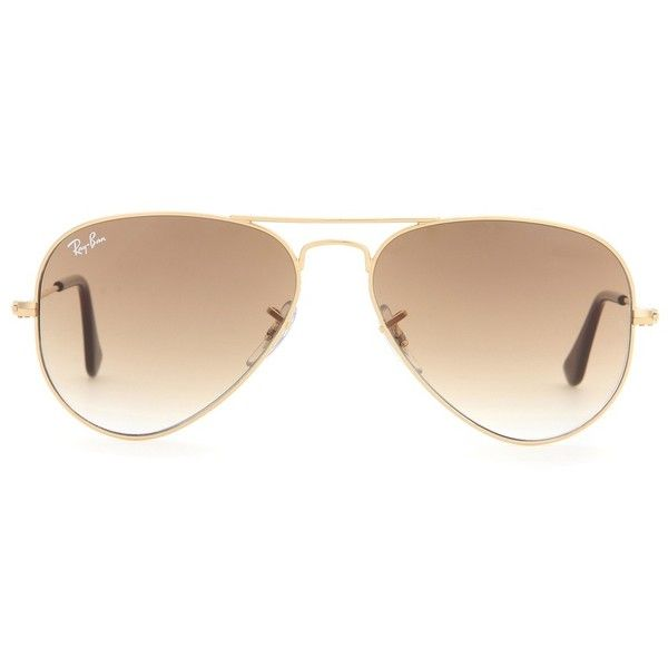 17ae06ba62aa1 Ray-Ban RB3025 Aviator Sunglasses (245 AUD) ❤ liked on Polyvore featuring  accessories, eyewear, sunglasses, glasses, oculos, sunnies, brown, ray ban  ...