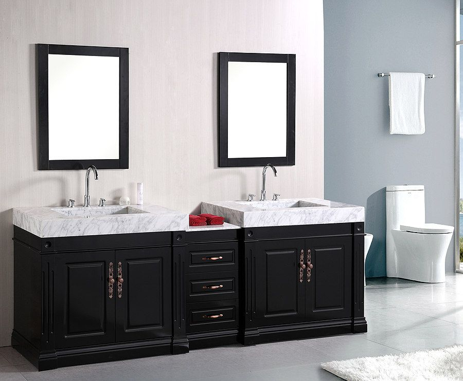 Design Element Odyssey 90 Traditional Double Sink Bathroom Vanity Dec101 Traditional B Double Sink Bathroom Vanity Bathroom Vanity Traditional Bathroom Vanity