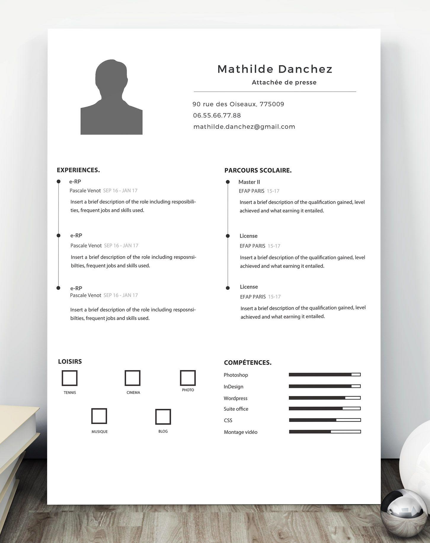 Modèle de CV simple et élégants à télécharger et