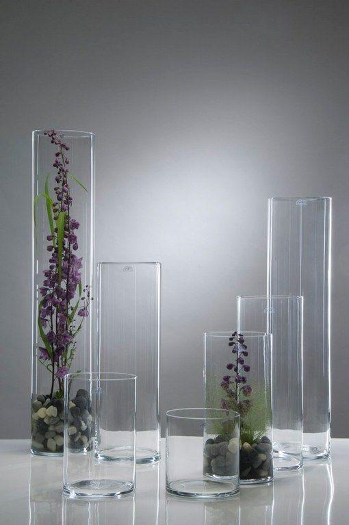 Jarrones floreros de cristal para flores plantas y for Decoracion de jarrones