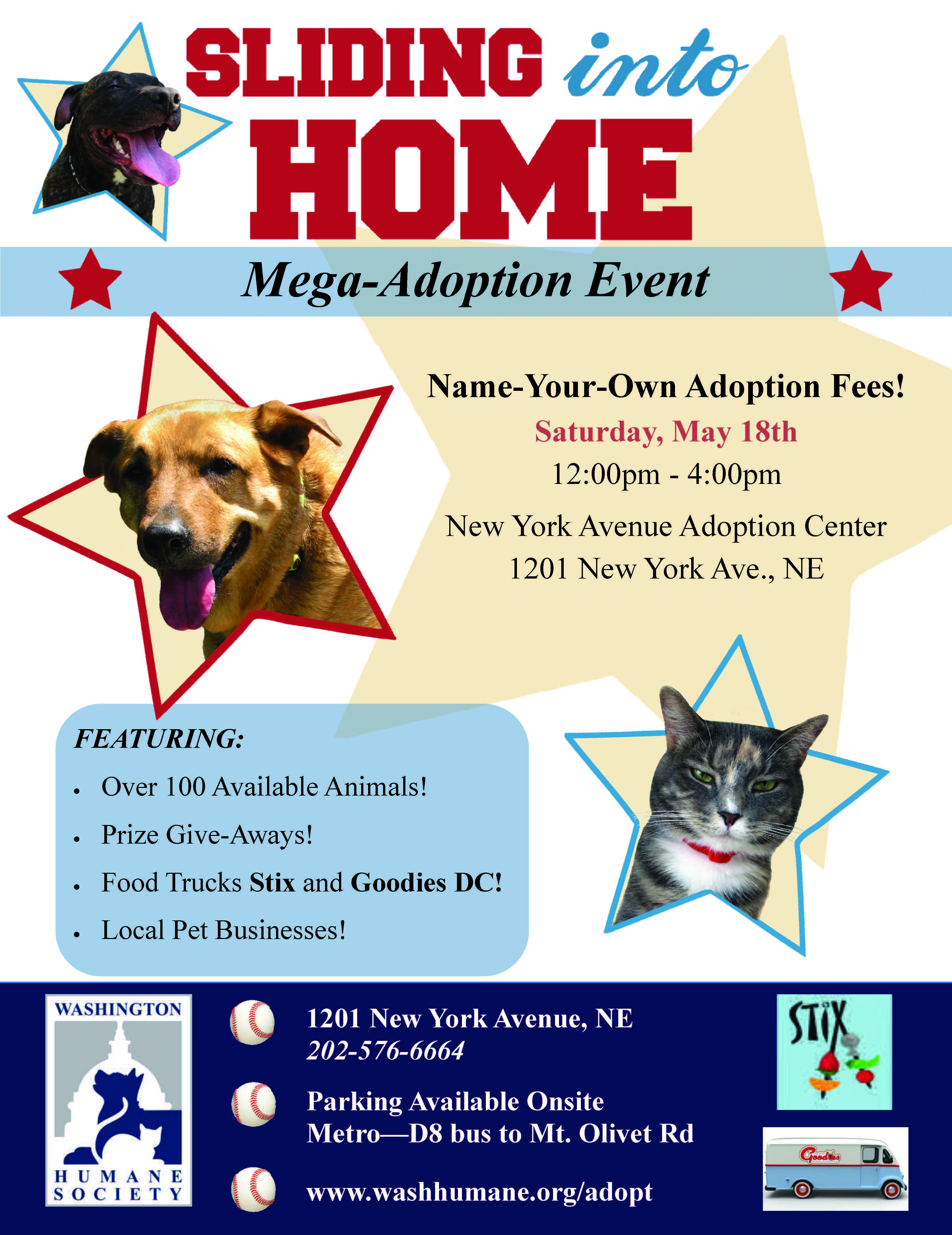 WHS will host a one day megaadoption event, Sliding Into
