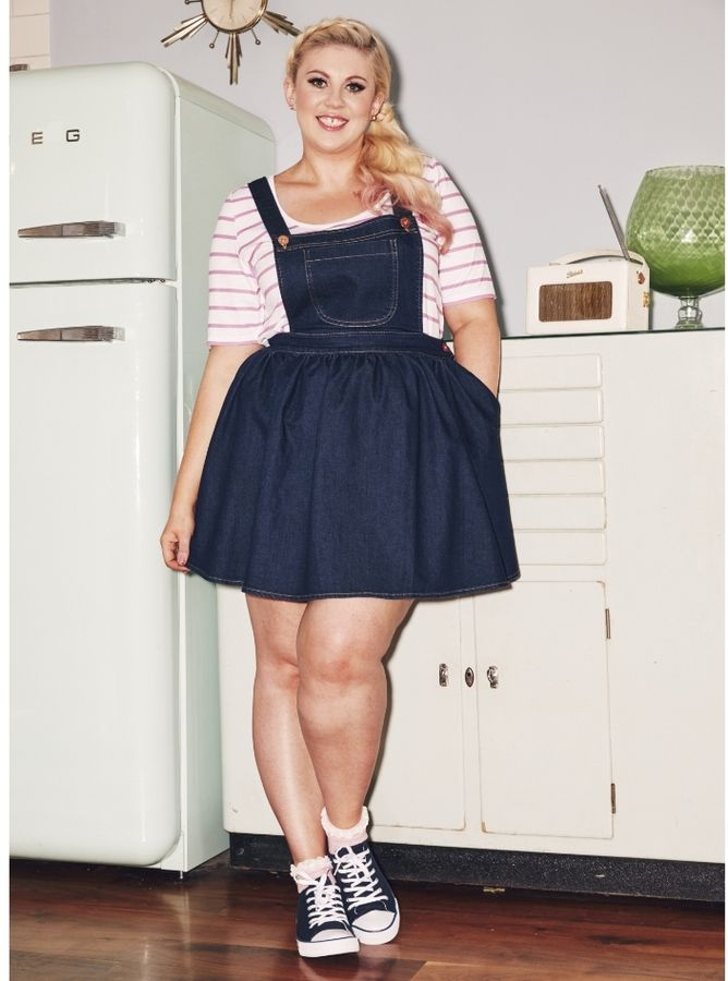 Plus Size Dungaree Dress