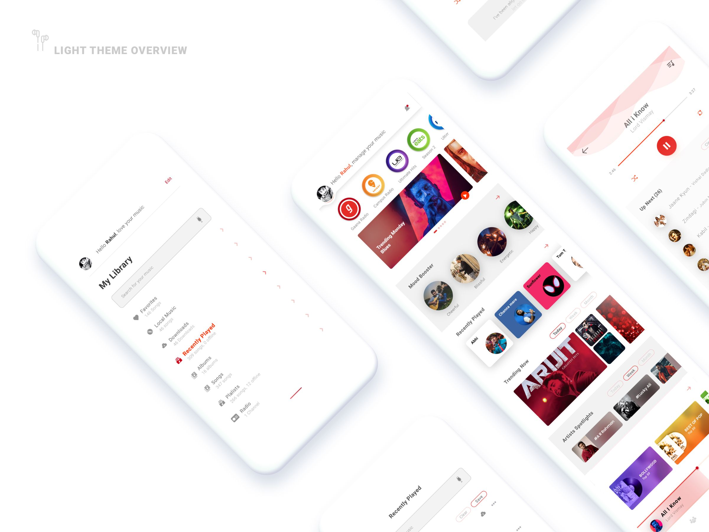 Music App Home Screen By Chand Routh App Home Screen App Home Music App