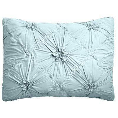 Celestial Blue Savannah Pillow Sham Standard Blue Duvet Cover Blue Duvet Blue Linen Bedding