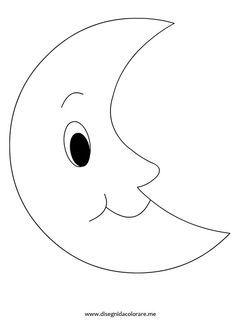 Luna Da Colorare Disegno Luna Disegni Semplici Disegni Da Colorare