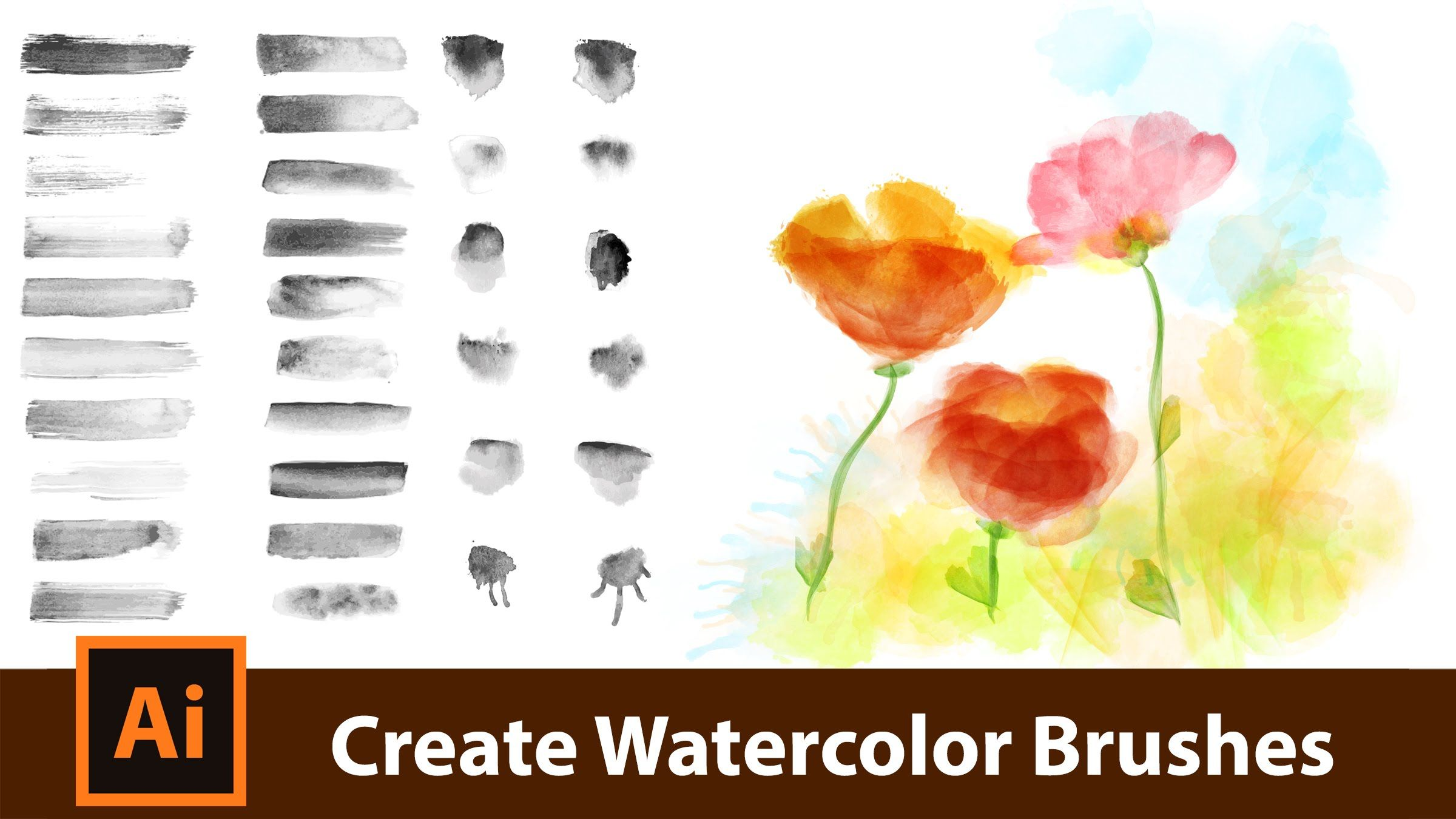 How To Make Custom Vector Watercolor Brushes For Adobe Illustrator
