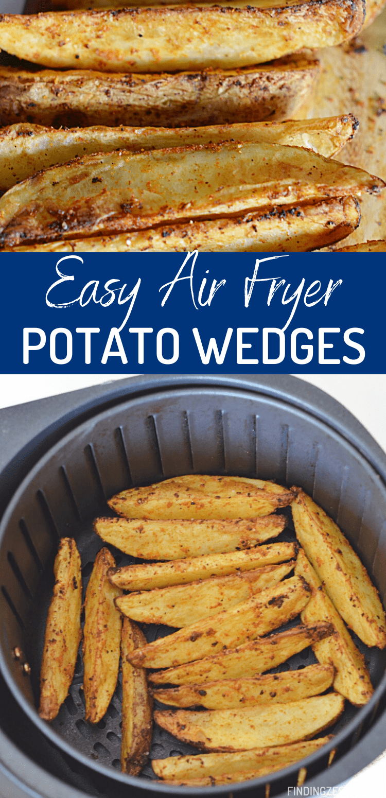 Air fryer potato wedges are absolutely bursting with