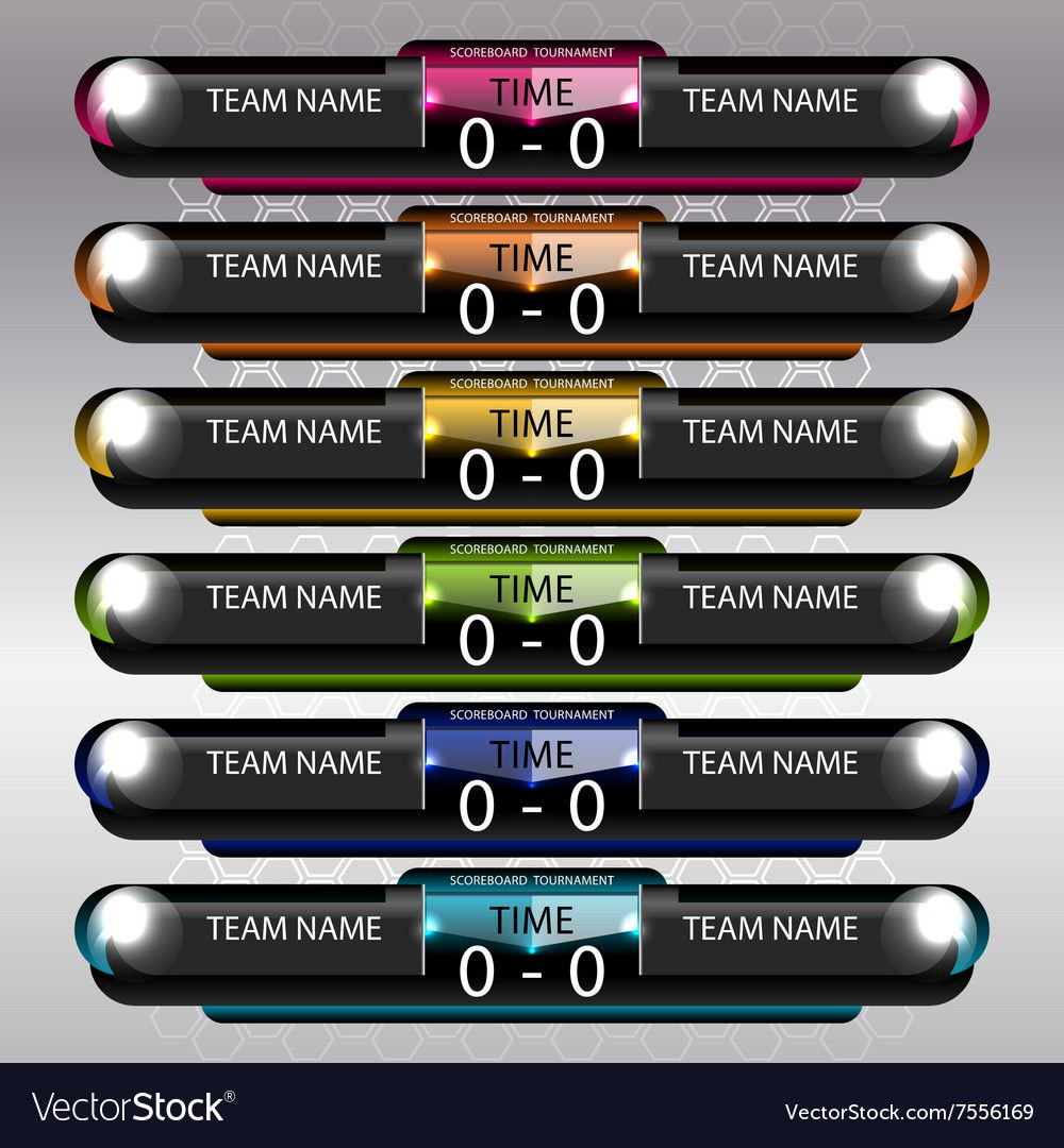 Soccer And Football Scoreboard Royalty Free Vector Image